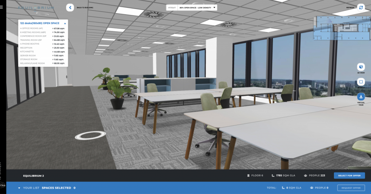 How technology transforms showcasing office spaces: Bright Spaces and Skanska