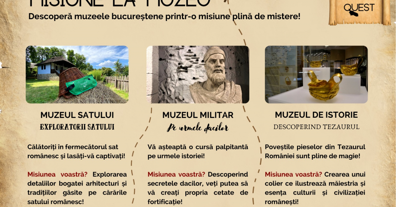 Museum Quest, un treasure hunt în trei muzee din București