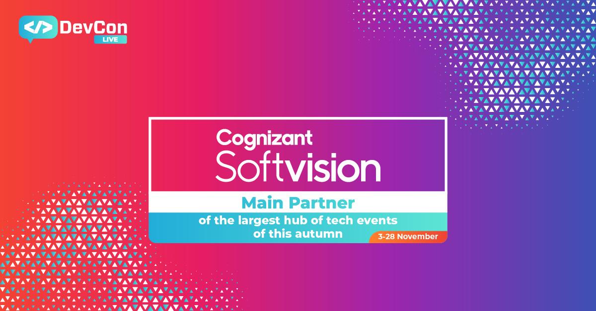 Cognizant Softvision - Main Partner la DevCon Live 2020