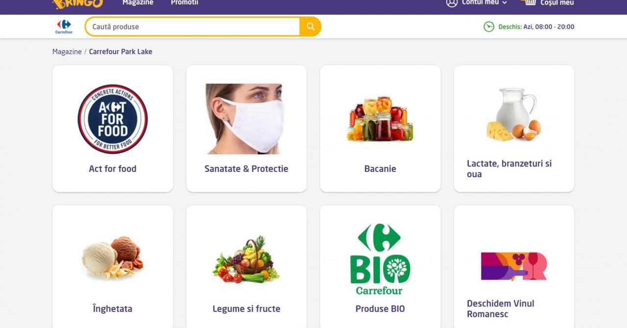 Carrefour își mută Supermaketul Online cu totul în Bringo