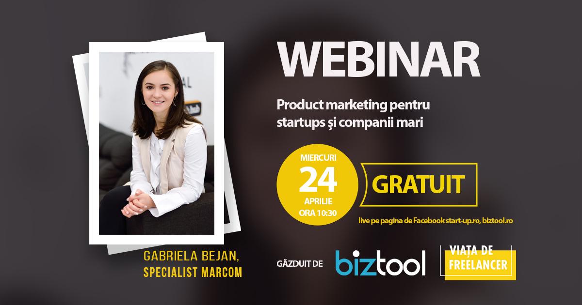BizTool.ro: webinar gratuit de product marketing pentru startups