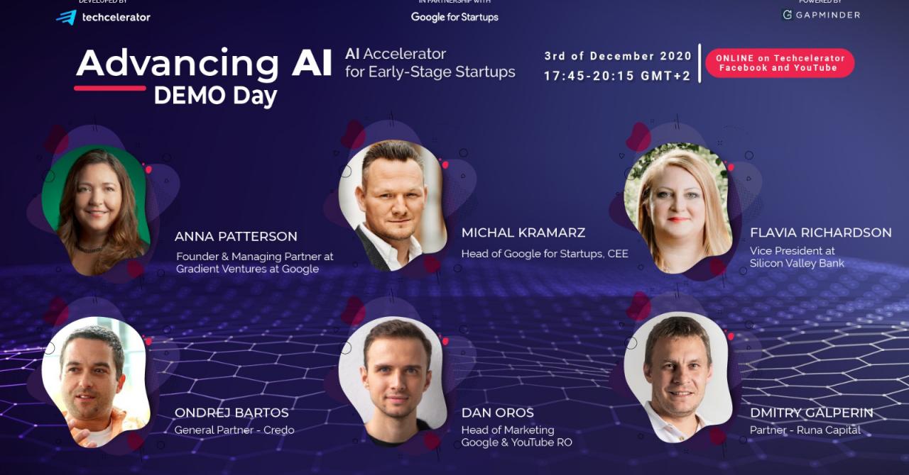 Advancing AI Demo Day - acceleratorul de inteligență artificială la final