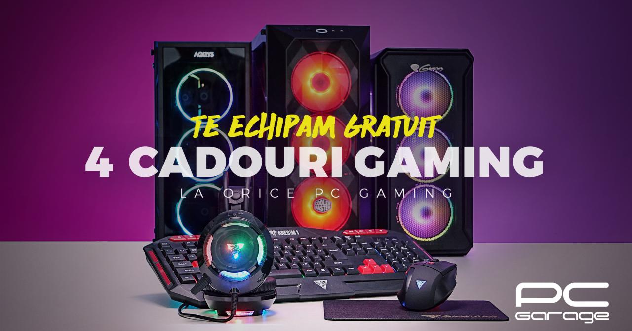 PC Garage oferă cadou 4 periferice de gaming la achiziția unui sistem de gaming