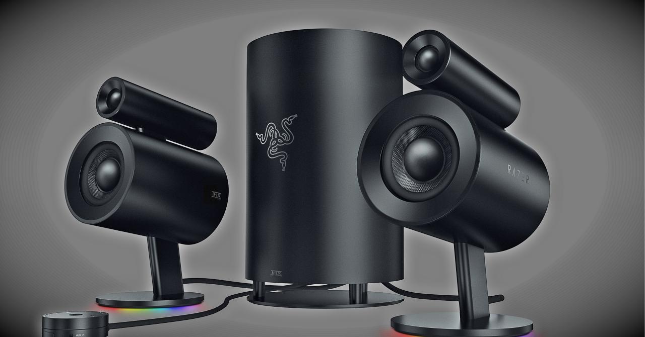 Razer Nommo Pro este un sistem audio 2.1 pentru vizuina ta de gamer