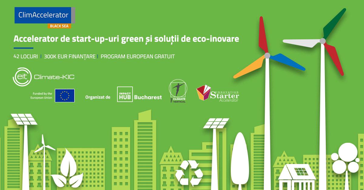 ClimAccelerator, program pentru startup-uri green cu soluții de eco-inovare