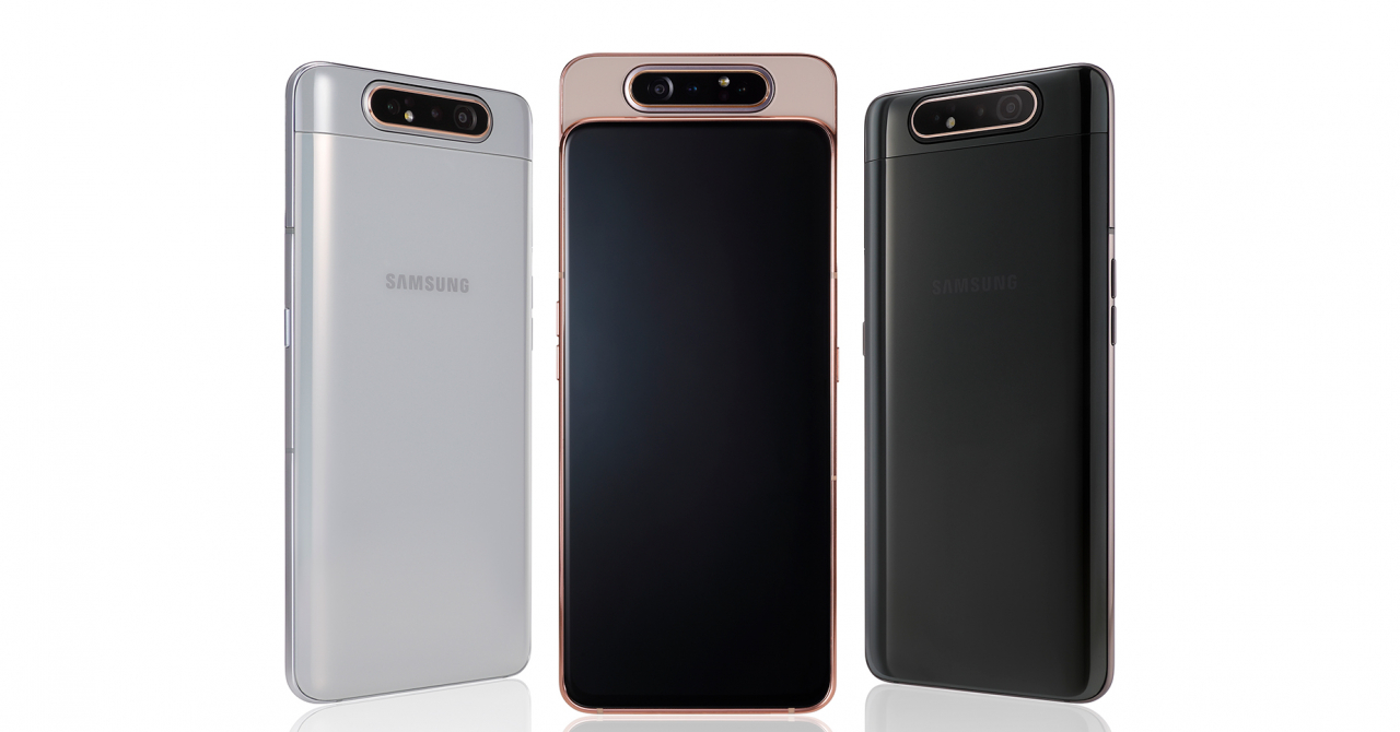 Samsung Galaxy A80 - telefonul cu o cameră cu motoraș și fără breton