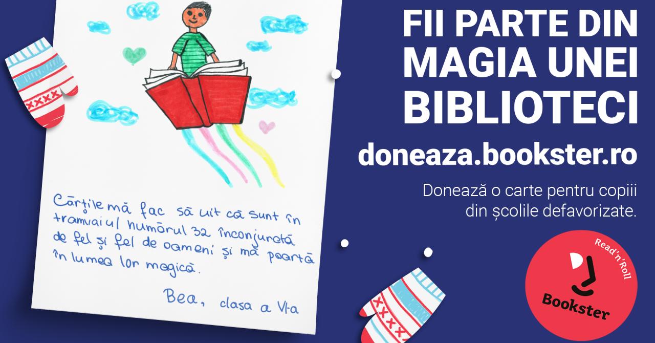 Magia unei biblioteci: donează cărți prin Bookster pentru copii