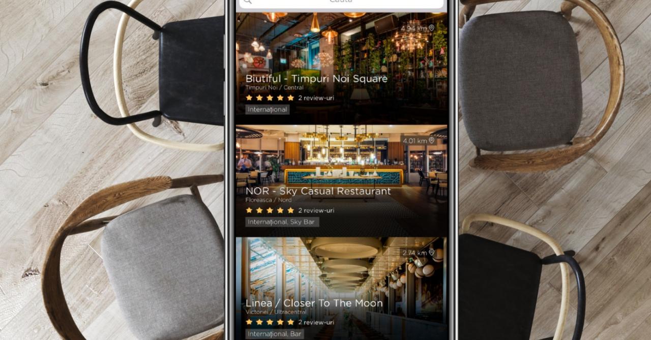 450.000 euro pentru o aplicație prin care rezervi masă la restaurant