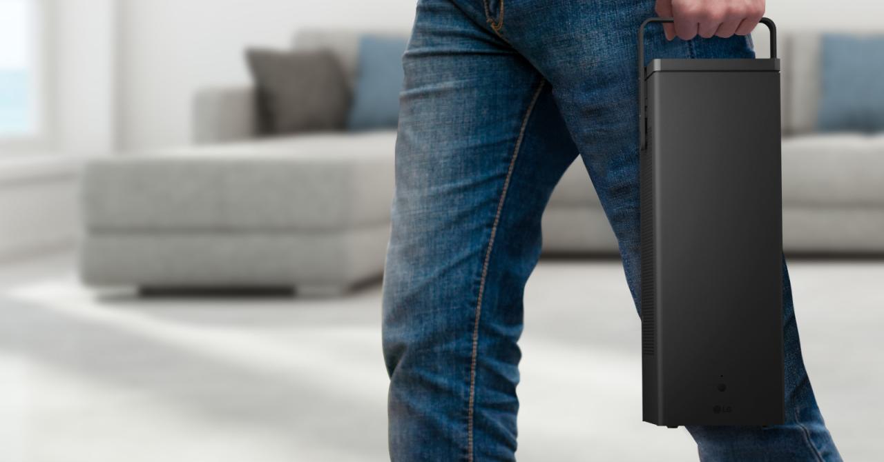 Primul proiector 4K de la LG poate fi mutat dintr-o cameră în alta