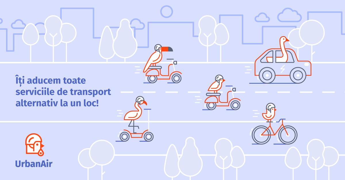 Urban Air, platforma locală ce-ți arată toate soluțiile de transport alternativ