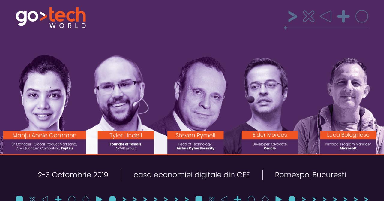 Experți de la Tesla, Oracle sau Airbus vin în România la GoTech World