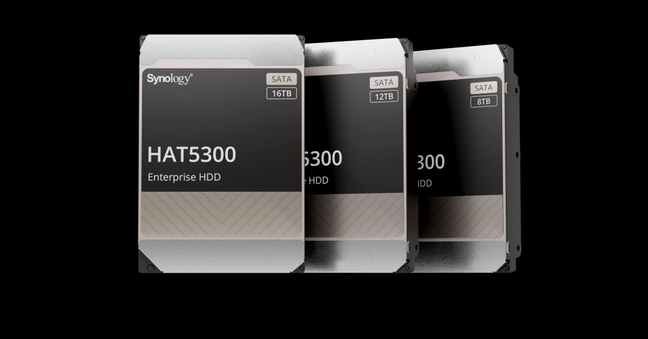 Synology intră pe piața de HDD-uri, lansând modelele Synology HAT5300