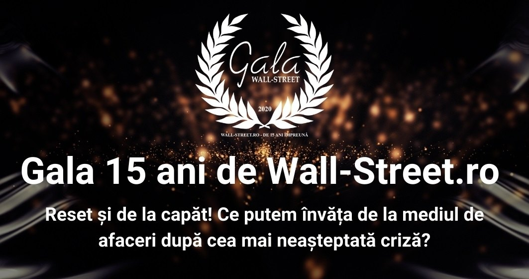 Companiile câștigătoare la Gala Wall-Street.ro 15 ani
