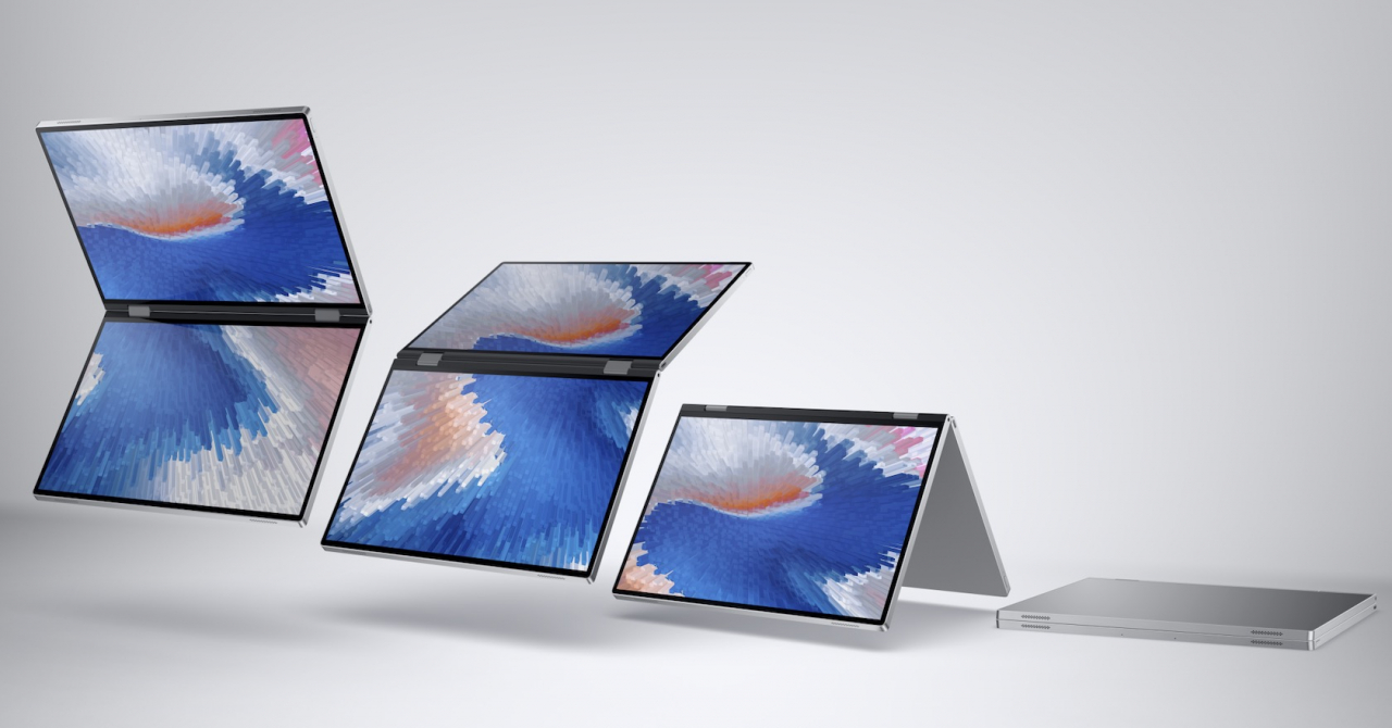 Laptopuri cu ecran pliabil: conceptele viitorului de la Dell