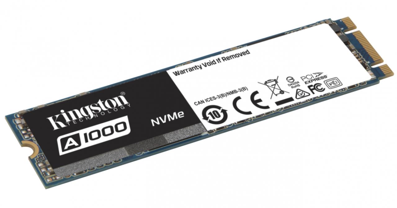 Kingston A1000, un SSD de 2X mai rapid decât SATA, dar la preț similar