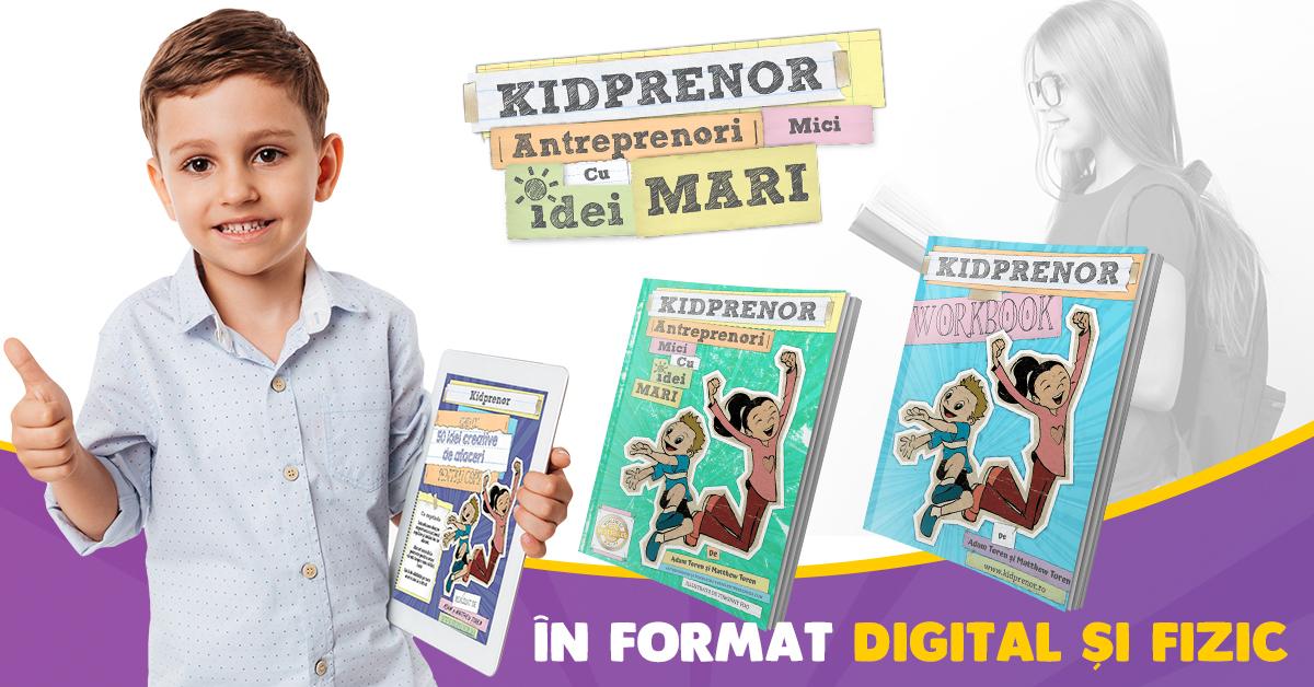 Doi români lansează în România cărțile de antreprenoriat pentru copii Kidprenor