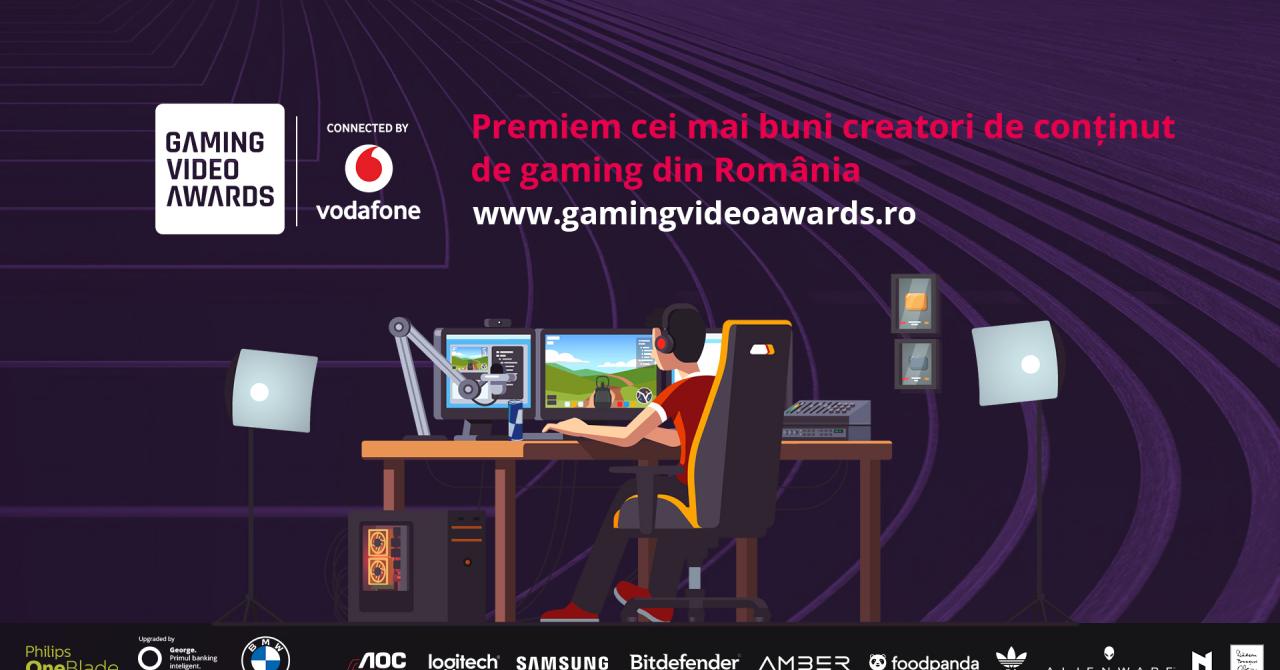 Gaming Video Awards: 80 de creatori de conținut de gaming locali în competiție