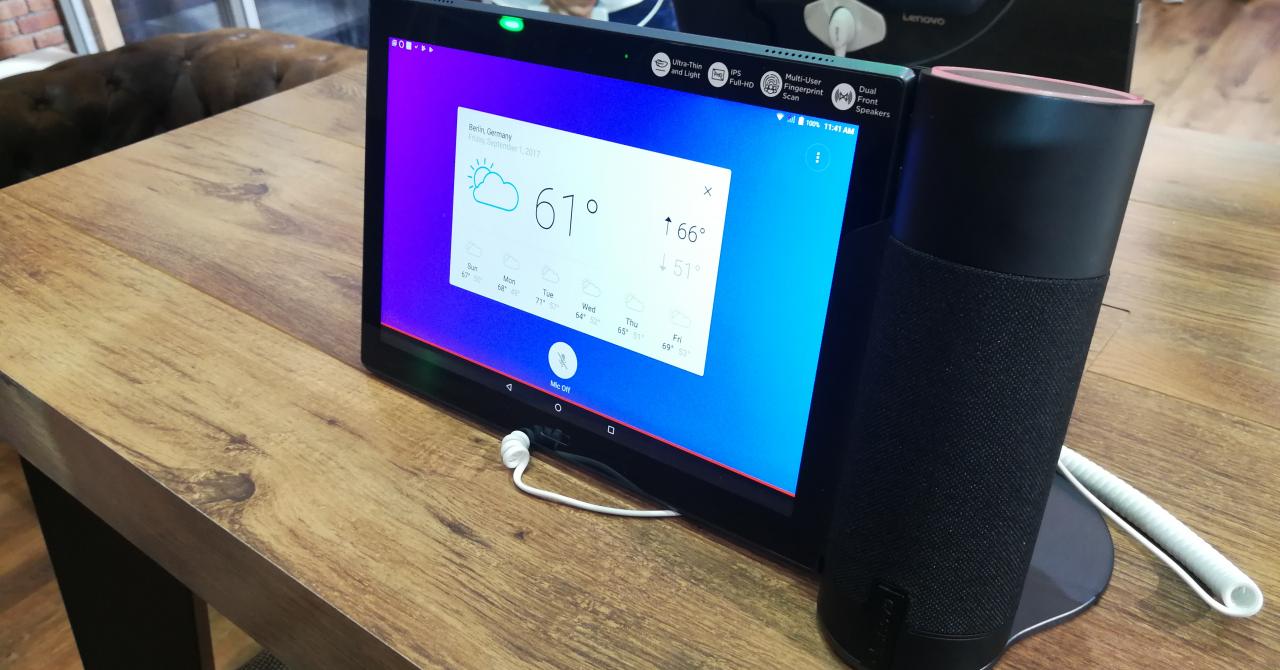 IFA 2017: Lenovo Home Assistant Pack aduce Amazon Alexa într-o tabletă