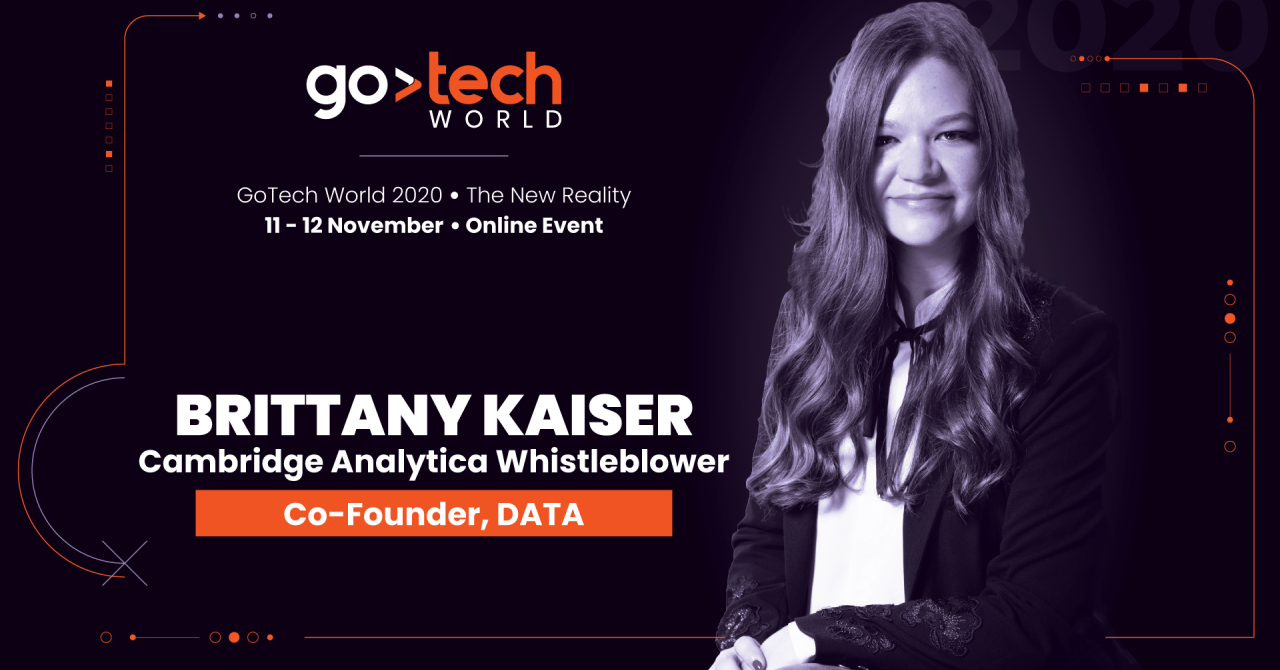 Brittany Kaiser, fost director Cambridge Analytica, vine la GoTech World 2020