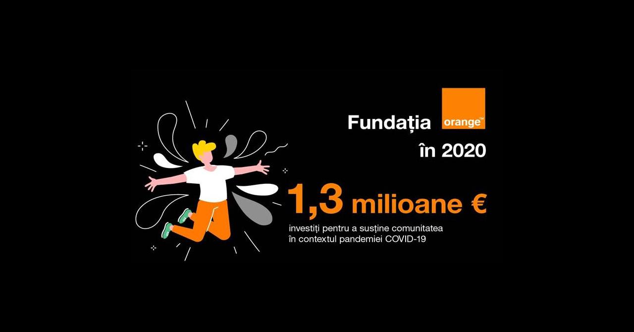 Fundația Orange: investiții de 1,3 mil. euro pentru susținerea comunității