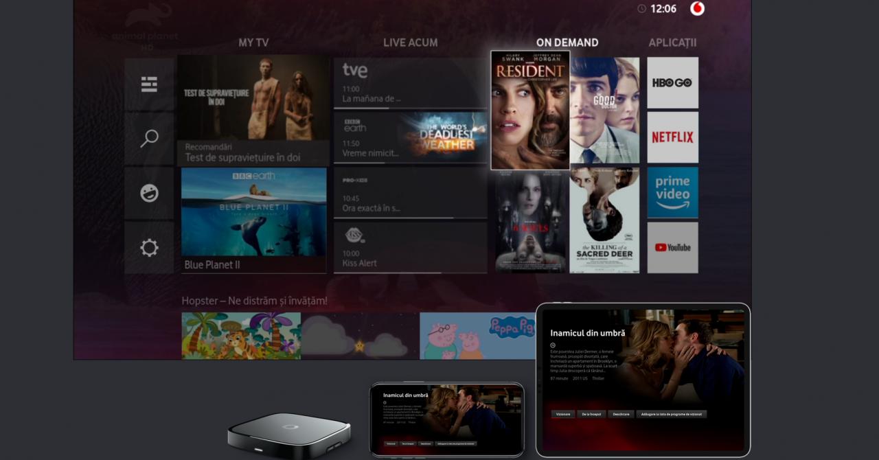Vodafone lansează Vodafone TV, o platformă pentru TV live și video on demand