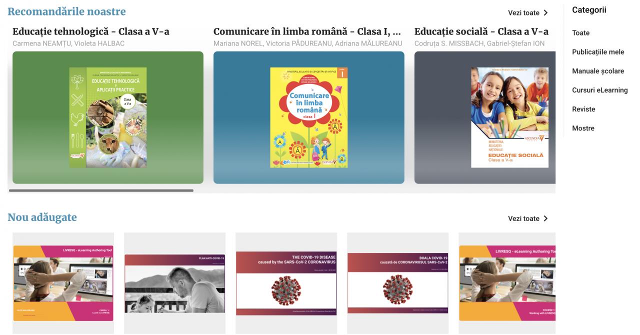 Ascendia va oferi gratuit editorul de lecții LIVRESQ profesorilor