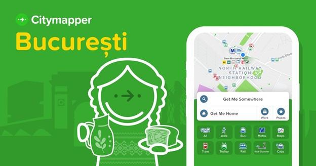 Aplicația de navigare fără mașină, Citymapper, lansare oficială în București