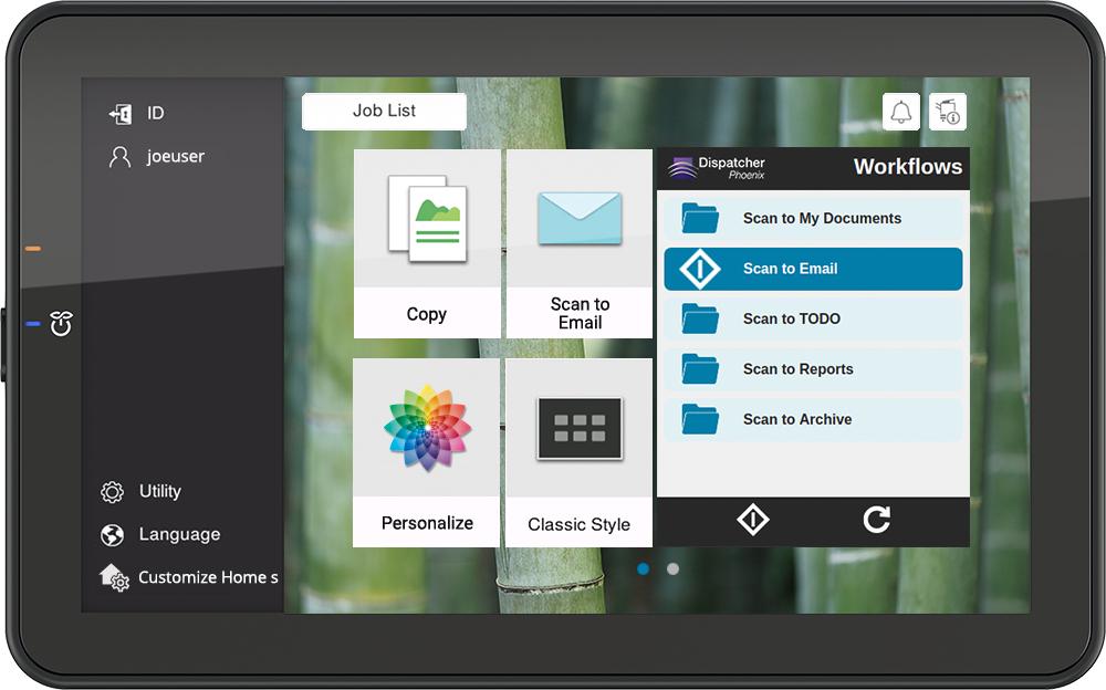 Konica Minolta îți personalizează interfața imprimantei. Experiență ca pe mobil