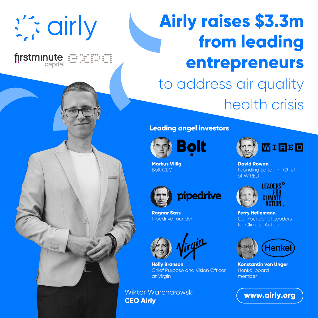 Airly raises $3.3m from tech investors to address the air quality health crisis