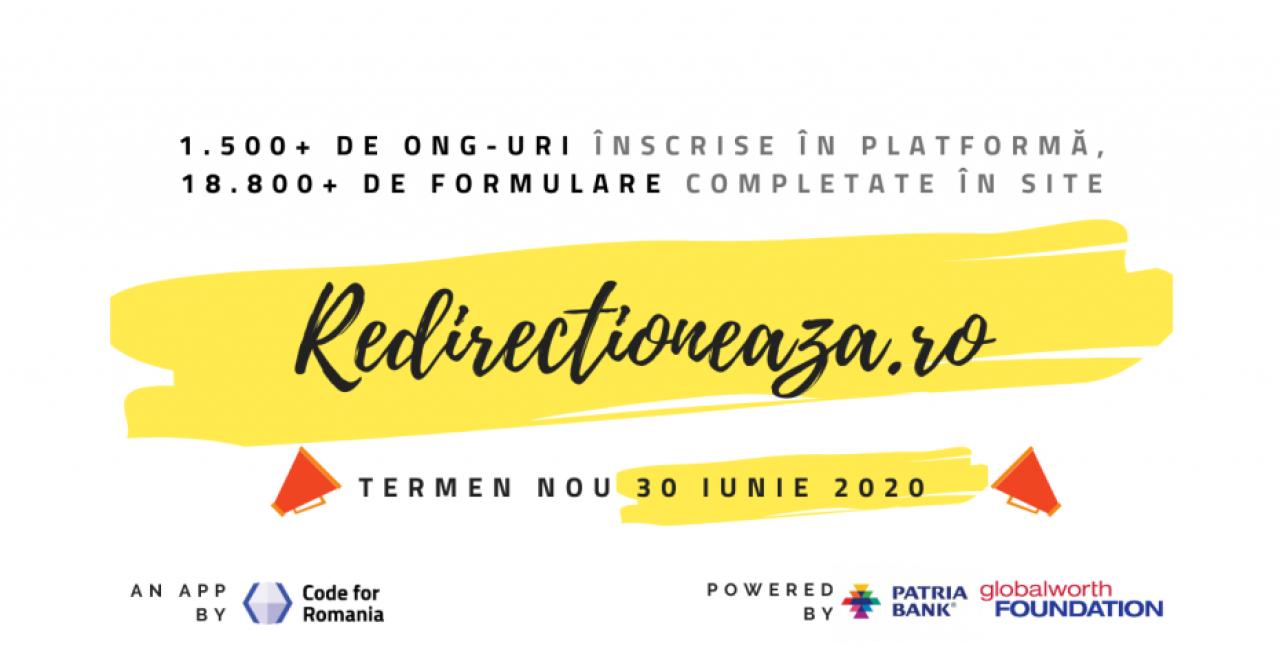 Platforma redirectioneaza.ro, pentru suportul ONG-urilor, 8.500 de contribuții