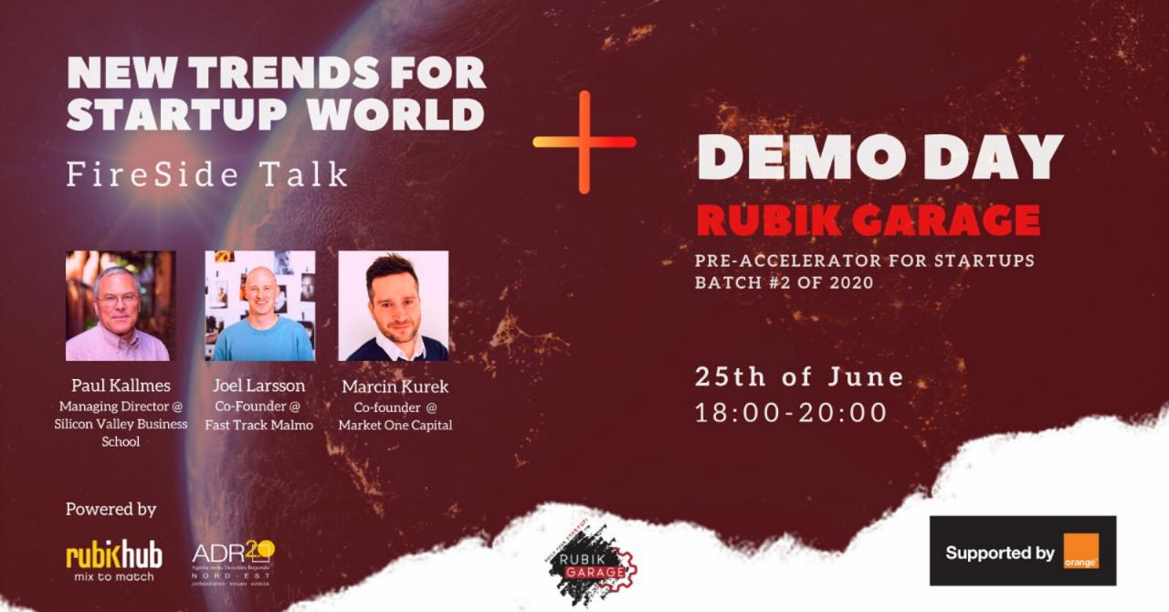 Eveniment: New Trends for Startups Talk & Demo Day Rubik Garage