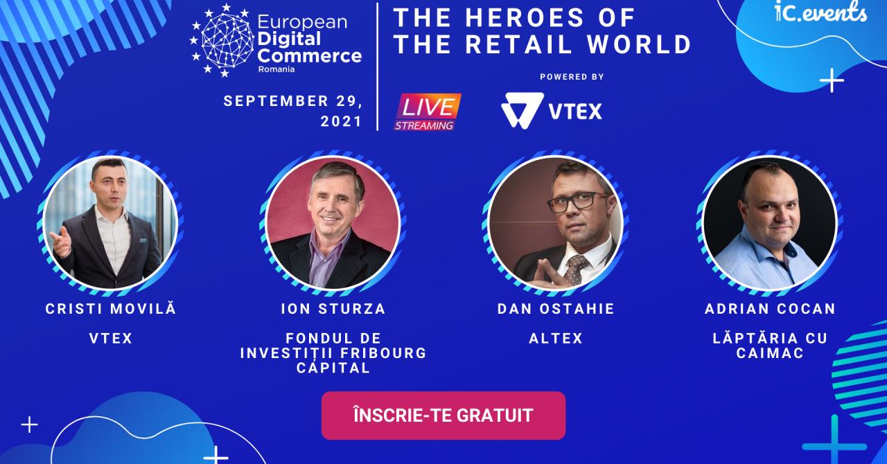 Dan Ostahie, Ion Sturza, Alex Bratu, speakeri de la European Digital Commerce