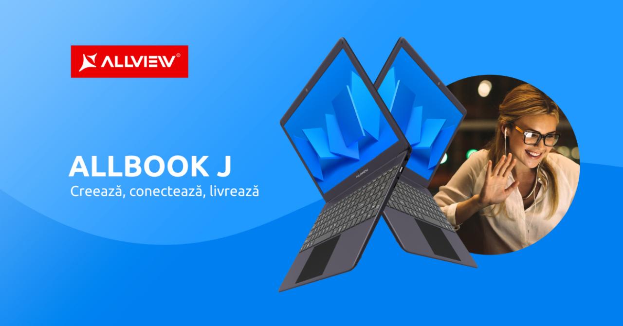 Allbook J, cel mai nou model de laptop din portofoliul Allview