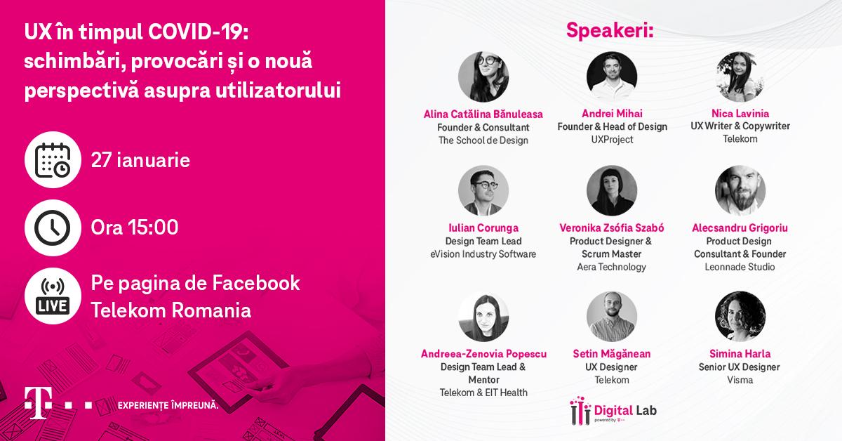 Telekom a organizat prima conferință pe tema User Experience în timpul COVID-19