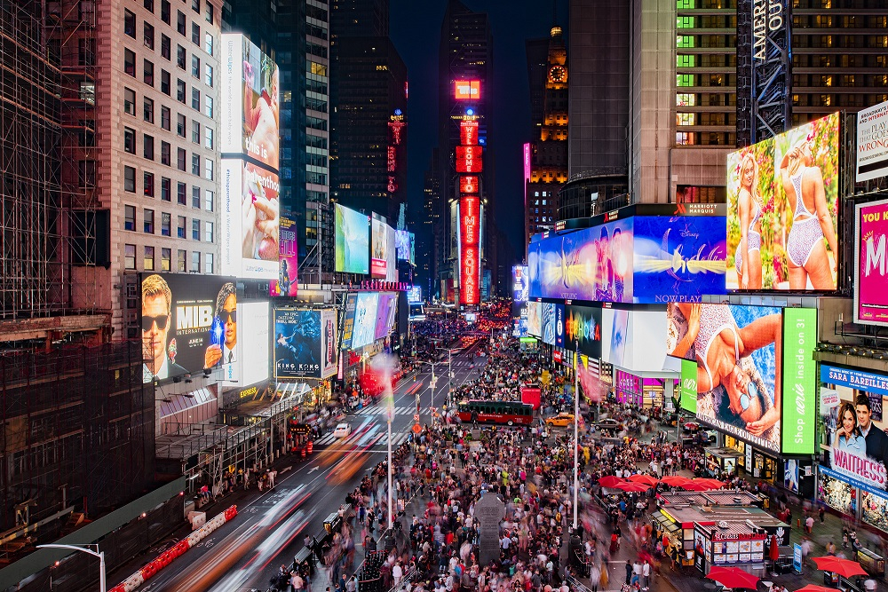 Times Square, scăldat în lumina unor noi LED-uri