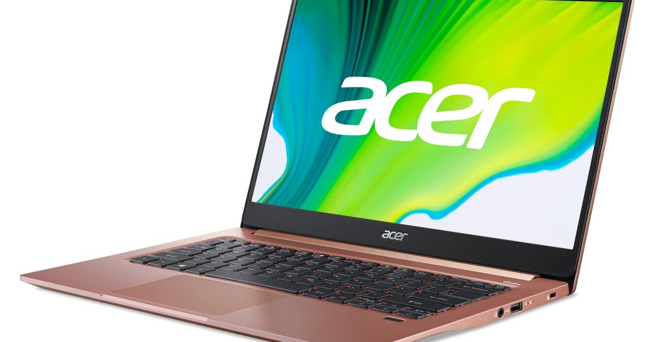 Acer anunță Swift 5 și Swift 3, laptop-uri cu procesoare Intel Core Tiger Lake