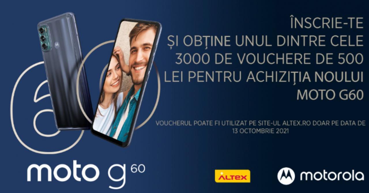 Motorola moto g60, lansare în România: Discount special de 500 de lei