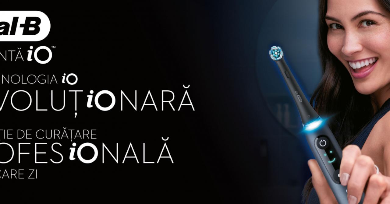 Periuța de dinți inteligentă Oral-B iO, lansată oficial în România: funcție AI