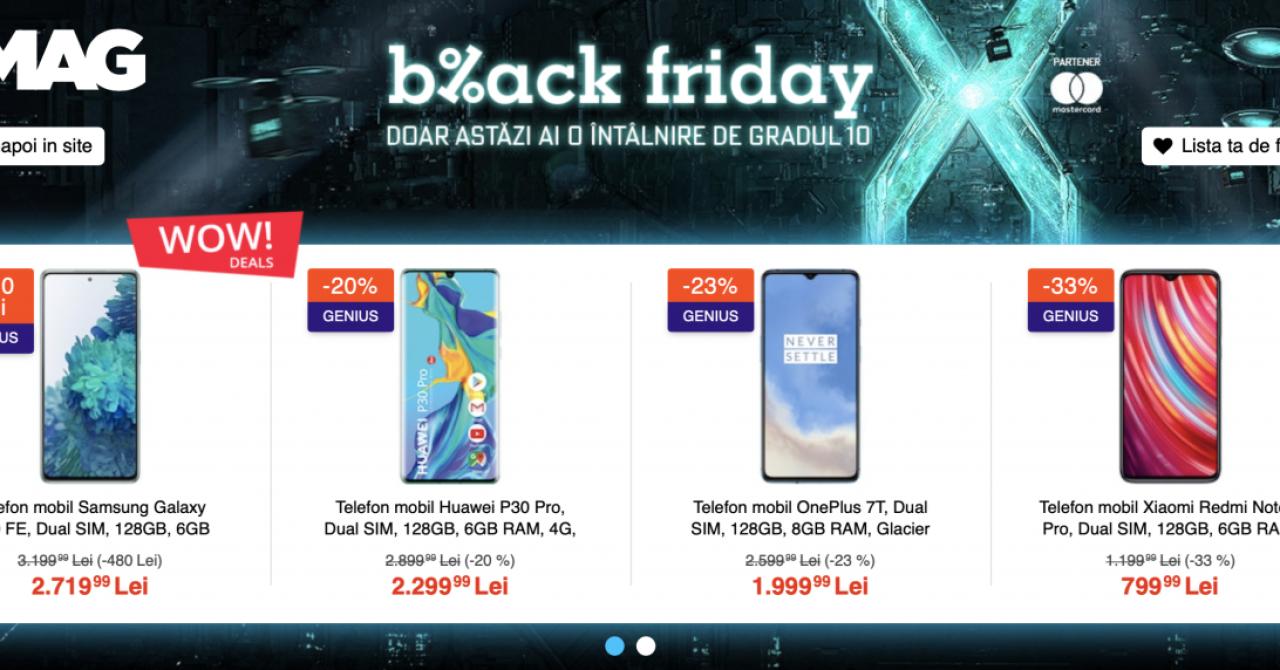 Catalogul eMAG Black Friday - valul doi de reduceri la noi produse