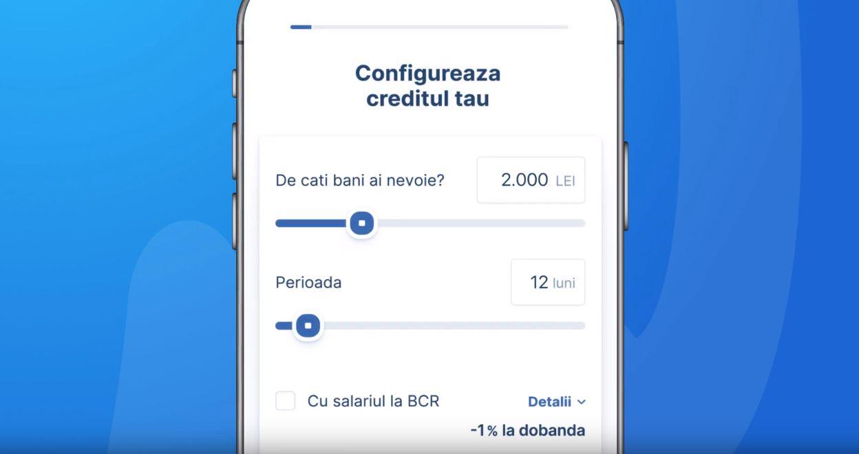Îți poți face credit online la BCR, prin aplicația George Credit