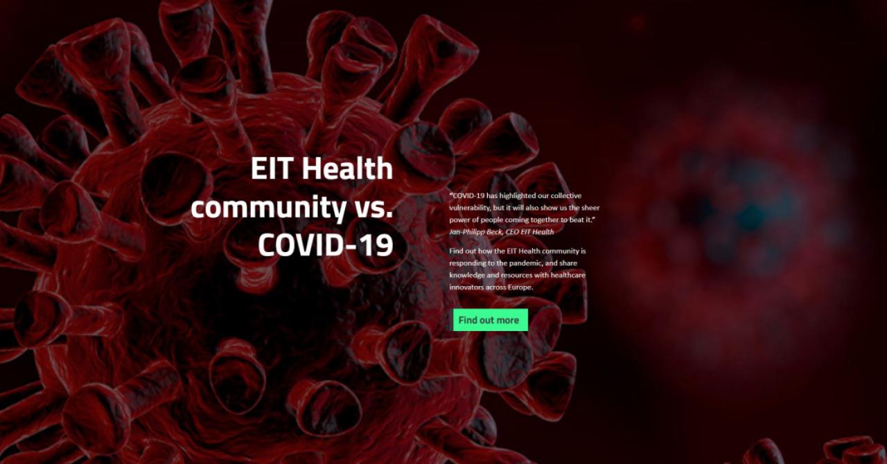 EIT Health a lansat o platformă pentru soluții medicale pentru criza COVID-19