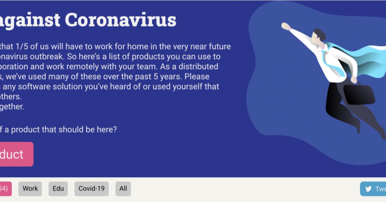 Tech Against Coronavirus: site făcut de români cu soluții de muncă la distanță