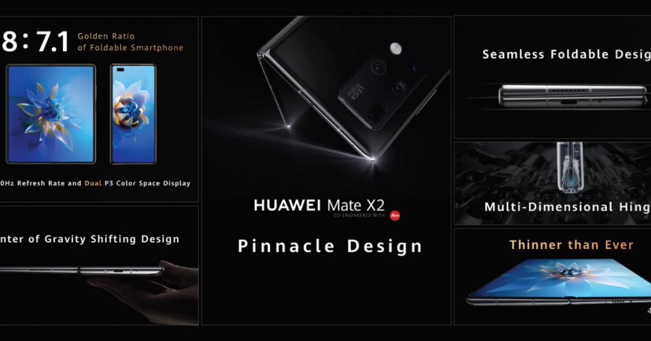 Huawei Mate X2, anunțat oficial: Cum arată noul smartphone pliabil și ce aduce