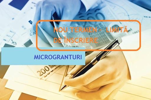 Microgranturi 2.000 de euro: termenul de aplicare se prelungește