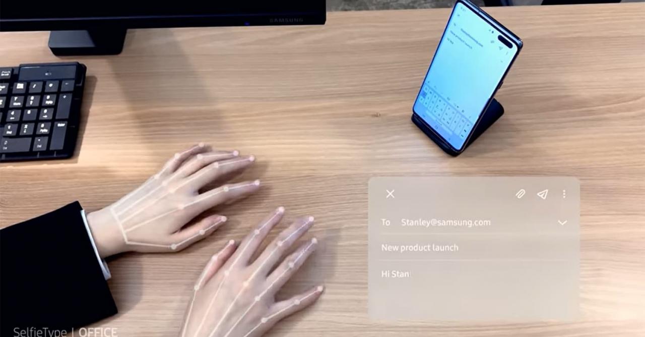 Samsung a creat o tastatură invizibilă pentru telefon și tabletă