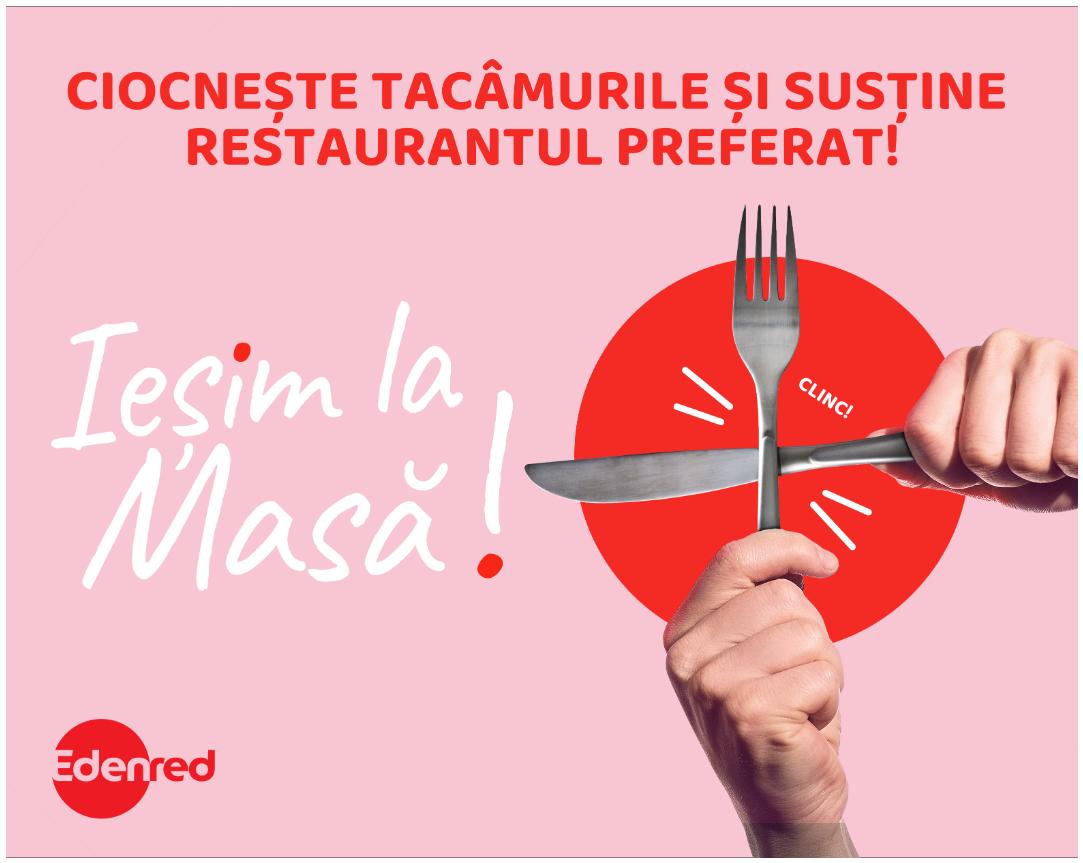 Edenred susține restaurantele: mese gratuite pentru posesorii de carduri de masă