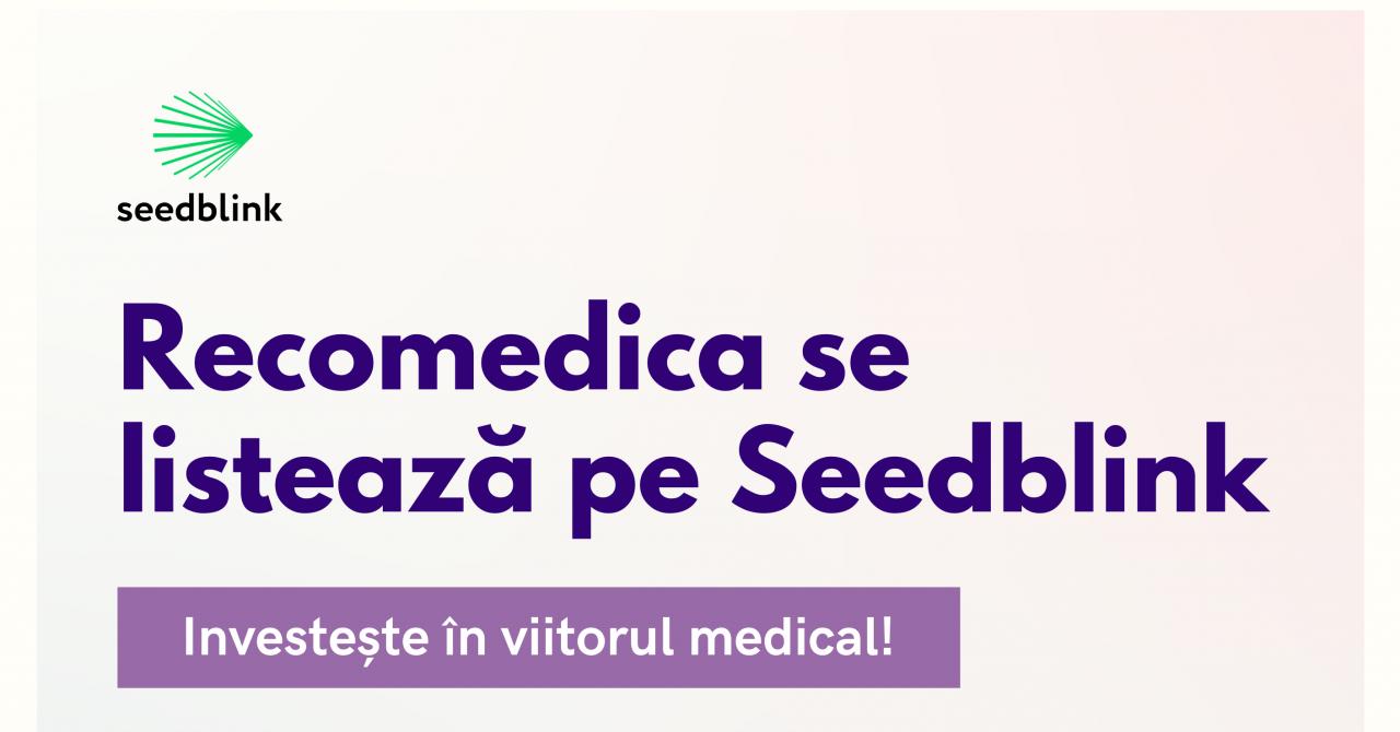 Platforma de telemedicină Recomedica, 350.000 de euro pe Seedblink