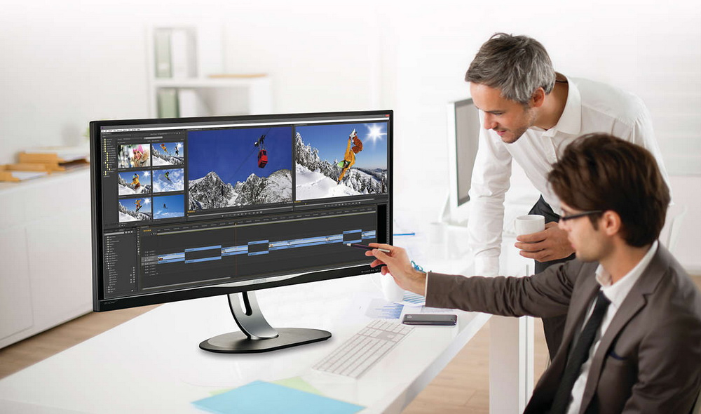 Mai productiv la birou: ecran de 34 inci pentru toate proiectele tale