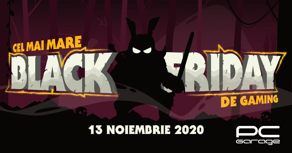 Black Friday de gaming la PC Garage pe 13 noiembrie. Oferta magazinului