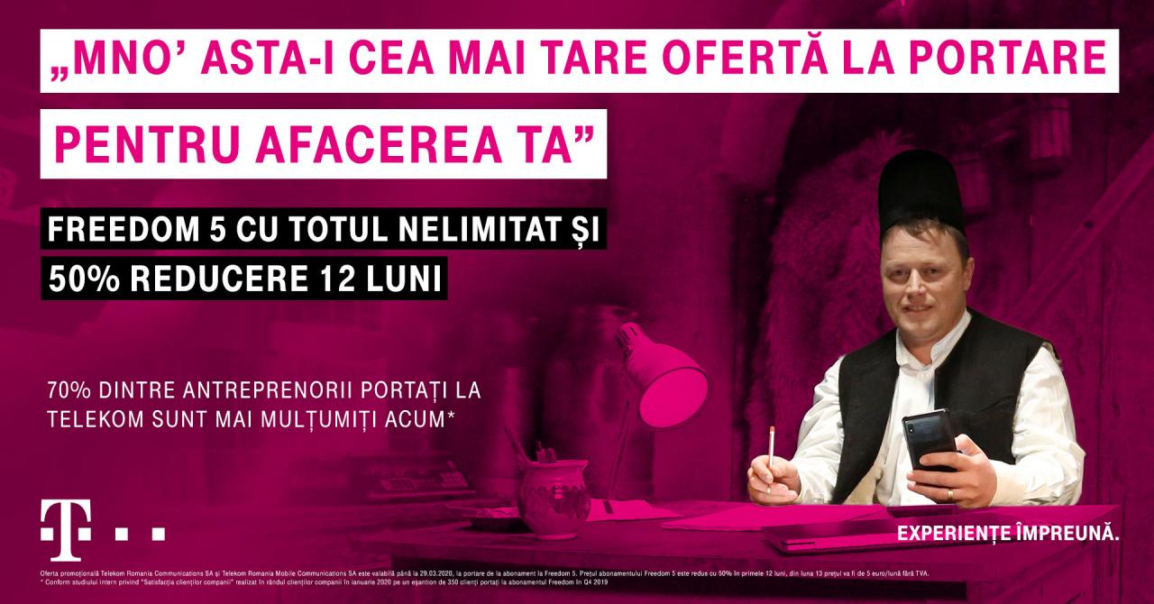 Telekom Romania anunță ofertele pentru antreprenori și telefoane în rate